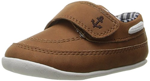 Carter's Every Step Boy's Standing Shoe, Finn, Navy/Brown, 3 M US Infant