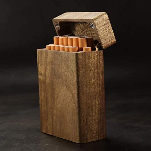 ZIJIAGE Holz Zigarettenetui, beweglicher Multifunktions kreative Zigarettenschachtel kann, Ultralight 20 Beherbergungs