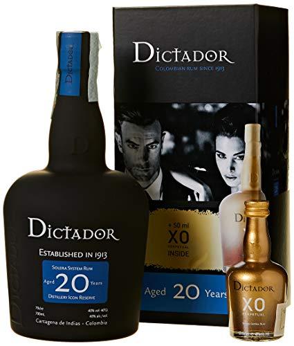 Dictador 20 Years Distillery Icon Reserve mit Geschenkverpackung mit XO Miniatur Rum (1 x 0.75 l)