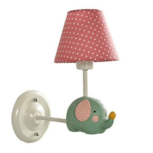 YLCJ wandlamp Nordic kleine frisse baby olifant wandlamp eenvoudige jongen meisjes kleuterschool slaapkamer wandlamp verlichting (kleur: B)