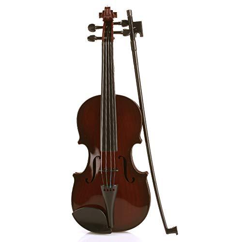 LOIKHGV Geige- Violine Kinder Violine 48 cm Schwarz ABS Kinder Musikinstrumente Früherziehung Spielzeug Musik Studnets Akustische Violine, wie Gezeigt