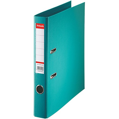 Esselte raccoglitore a leva, per l'archiviazione, copertina in plastica, A4 Dos 5,0 cm Turquoise