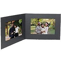 Black Cardstock Paper photomount Double folder 7x5 frame w/plain border sold in 25s - 5x7 [並行輸入品]