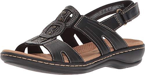 Clarks Women's Leisa Vine Platform, Black Leather, 8 Medium US