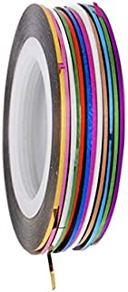 Bullidea 32Pcs Mixed Colors Rolls Striping Nail Tape Line Nail Art Tips Decoration Nail Stickers-Can Be Directly Pasted