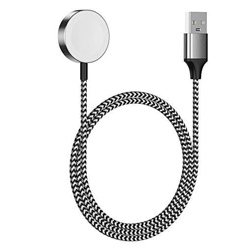 EVERCOSS Caricatore per Apple Watch Magnetico iWatch Caricabatterie Magnetico Cavo Intrecciato in Nylon per Apple Watch serie 5 4 3 2 1 forte rinforzato durevole