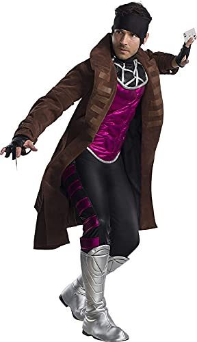 Charades Men's Marvel X Gambit Adult Sized Costumes, As Shown, X-S
