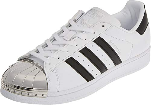 adidas Damen Superstar Metal Toe Trainer Low, Weiß (Footwear White/core Black/Silver Metallic), 38 2/3 EU