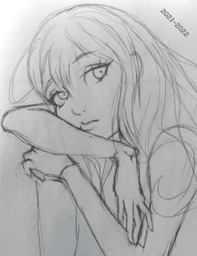 2021-2022: Week-View UK Academic Planner 2021-2022 / School Diary / 17x22cm / Manga/Anime - Beautiful Girl