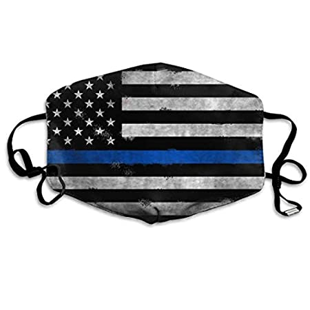 Comfortable Adjustable Thin Blue Line American Flag Surgical Face Mask