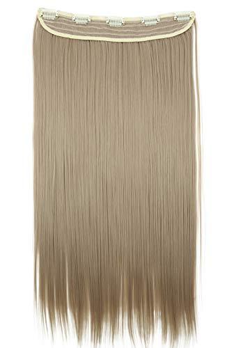 PRETTYSHOP 60cm Clip In Extensions Haarverlängerung Haarteil Glatt Blond C60