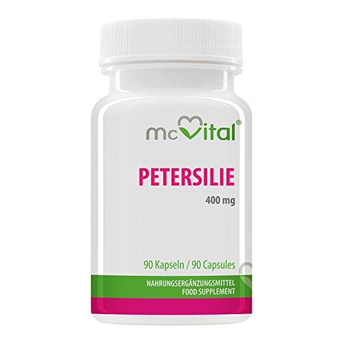Petersilie - 400 mg - Enthält Myristicin und ist rein natürlich - 90 Kapseln