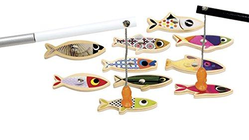 Janod- Pesca con la Lenza Sardina Gioco Magnetico, Multicolore, J08209
