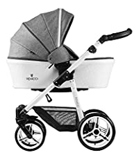 TRUE LUXURY - The luxurious Prestige edition Venicci travel system combines versatility, elegance and contemporary European style. The 2 in 1 carrycot and stroller travel system features leatherette detail throughout the carrycot, stroller seat and a...