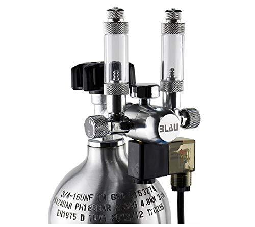 Blau Aquaristic 7780085 Regulador Compacto Dual (Dos Salidas) y Válvula Solenoide