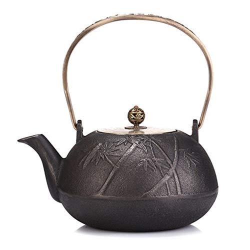 Tetera de hierro fundido Del japonés del hierro Pot Sur del hierro del pote Tetera de hierro fundido de hierro fundido tetera de té hervido Hervidor sin recubrimiento interior y exterior Para té de ho