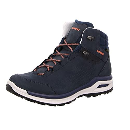 Lowa W Locarno GTX QC Blau, Damen Gore-Tex Hiking- und Approachschuh, Größe EU 38 - Farbe Navy - Mandarine
