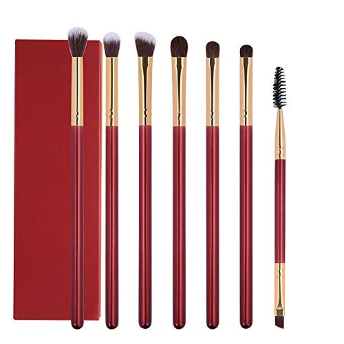 ZYC Maquillage Brosses 7PCS Maquillage des Yeux Brosse de Fard à paupières Blending Sourcils Brosse Cheveux naturels cosmétiques Outils de Essential Kit
