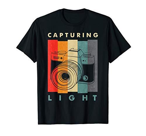 Erfassung Licht T-Shirt–Retro Kamera Fotograf Tee Geschenk
