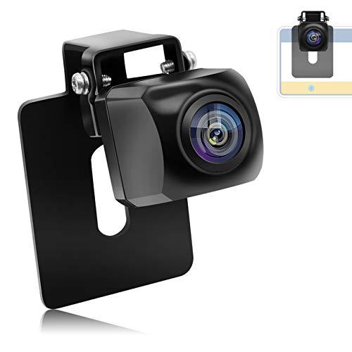 URVOLAX AHDバックカメラ 穴開けなくリアカメラ 水平180°・垂直140°超広角 高画質100万画素 CCDセンサー ナンバープレート取付 暗視機能付き IP69K高防水防塵 正像・鏡像切替可能 ガイドライ表示・非表示切替 12-24V対応 角度調整可 取付簡単 超小型車載カメラ 二種類取付方法有り 日本語説明書 1年保証期間