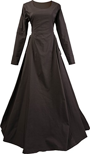 Dornbluth Damen Mittelalterkleid Eleonore Made in Germany (40/42, Schwarz)