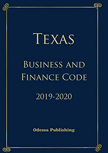 Texas Business and Commerce Code 2019-2020 (English Edition)