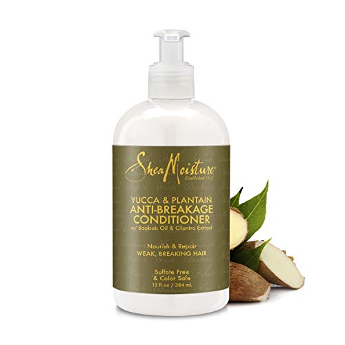 SheaMoisture Anti-Breakage Deep Hair Conditioner for Weak Hair Yucca & Plantain with Shea Butter 13 oz
