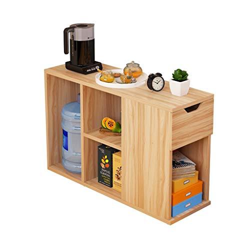 Tables basses Chariot à thé Armoire latérale Coin Salon Petite Armoire à thé Mobile Table à thé étagère Simple (Color : Beige, Size : 90.2 * 30 * 55.4cm)