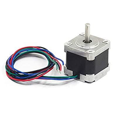 Iverntech Nema 14 Stepper Motor 35mm Body 1.8 ° 1A 2 Phase 4-Lead with Integrated 50CM Cable for 3D Printer, CNC Machine and Robotics