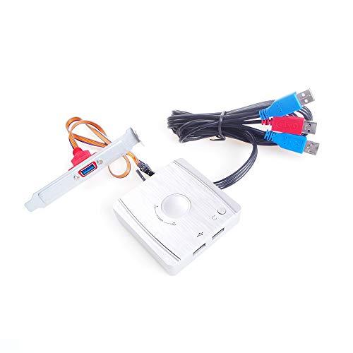 ANGEEK Desktop PC Computer EIN- und Aus Schalter Tisch Startknopf Desktop PC Case Power Switch Mit 2 USB Anschlüsse Power Reset Button LED Licht, Idealer Ersatz von PC-Kastenschalter