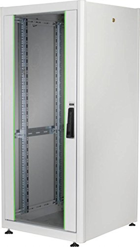 DIGITUS Netzwerk-Schrank 19-Zoll 22HE - 60x60 cm - Dynamic Basic Serie - Traglast 600 kg - Nutztiefe 550 mm - Grau