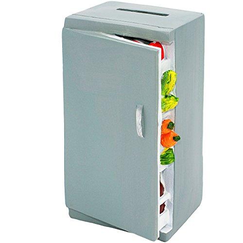 alles-meine.de GmbH große Spardose -  Kühlschrank / Gefrierschrank - mit Essen  - stabile Sparbüchse - aus Kunstharz / Polyresin - Trinkgeld Restaurant - Gutschein / Sparschwei..