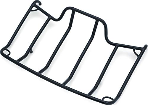 Kuryakyn 7137 Motorcycle Accessory: Trunk Luggage/Storage Rack with Corner Tie Down Points for 1980-2019 Harley-Davidson Motorcycles with Tour-Pak, Gloss Black