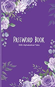 """Password Book With Alphabetical Tabs  Password Logbook Small Password Journal and Alphabetical Tabs Internet Password Organizer Logbook To Protect Usernames password book small 5"""" x 8"""""""