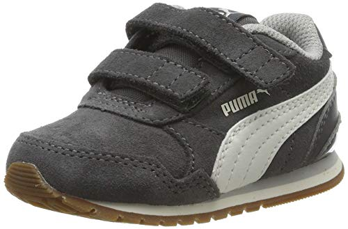 Puma Unisex-Kinder ST Runner v2 SD V Inf Niedrig Sneaker, Grau (Castlerock-Whisper White-Gray Violet 04), 21 EU
