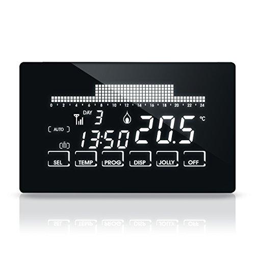 Fantini Cosmi CH193WIFI Cronotermostato Settimanale Ultrapiatto e Touch Screen, a 230 V-50 Hz, Nero