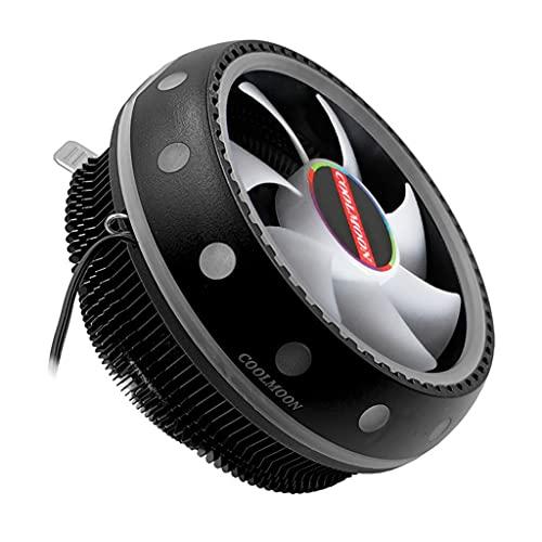 Wenyounge Enfriador de CPU, Sistema de radiador Ventilador de Caja LED RGB, Ventilador de Caja de Color Ajustable de Alto Flujo de Aire Quiet Edition para Cajas de PC