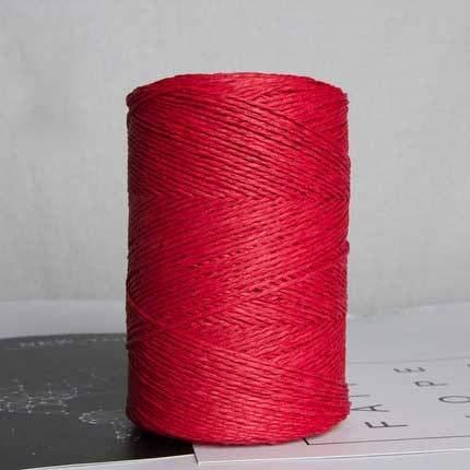 500g/roll Raffia stro garen voor hand breien zomer stro hoed handtassen biologisch garen haak handgemaakte DIY materiaal wijn rood