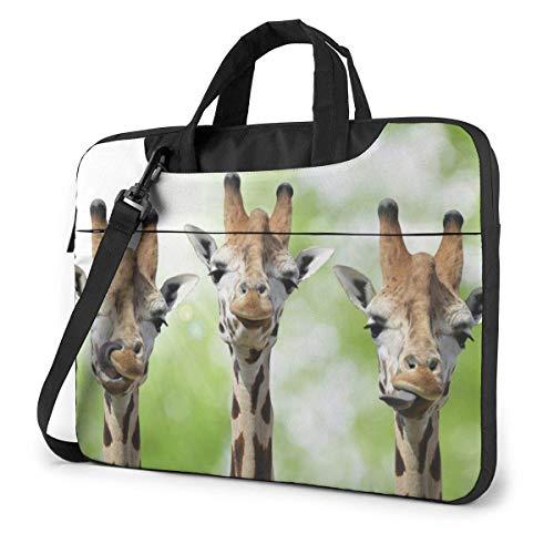 Laptop-schoudertas voor laptops 39,6 cm (15,6 inch), Jirapha-koppen met handgrepen voor wilde dieren, met handgreep