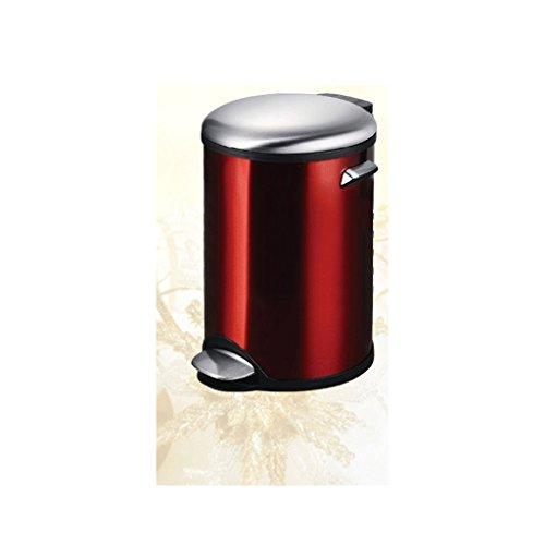 Poubelle LCSHAN Maison créative avec Couvercle (Capacity : 7l, Color : Red)