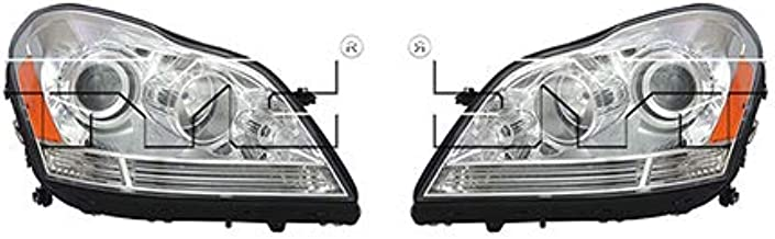 CarLights360: Fits 2007-2012 Mercedes-Benz GL450 Headlight Assembly Driver and Passenger Side DOT Certified w/Bulbs Halogen Type - Replaces MB2502202 MB2503202