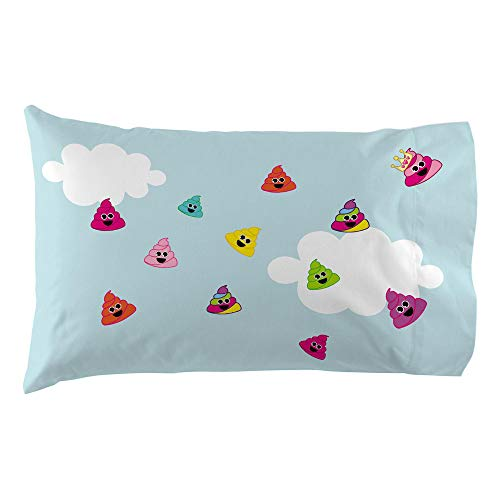 emoji Pillowcase Rainbow Poop City Reversible Pillowcase for Kids - 20 X 30 Inch (1 Piece Pillow Case Only)