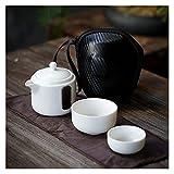 ODSHY Tetera de cerámica Juego de té de Kung fu Chino, Viaje Taza de té con Bolsa de té gaiwan Conjuntos de té portátiles de Viaje para té de Bebida (Color : B)