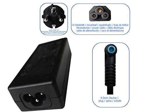Set Original HP Netzteil, 45W für Hewlett Packard 240 G3, 245 G3, 250 G3, 255 G3 und kimalaya Netzkabel/Stromkabel