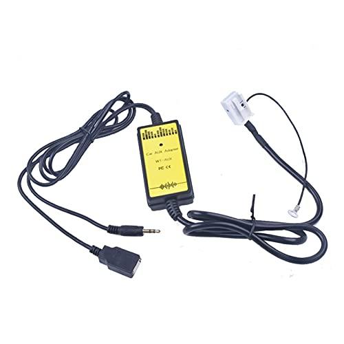 WANSHIDA QiQi Shop Adecuado VW Coche CD Adaptador AUX USB 12P Conectar CD Cambiador de Ajuste para Audi A3 A4 TT Ajuste para el Seat Altea Leon Toledo