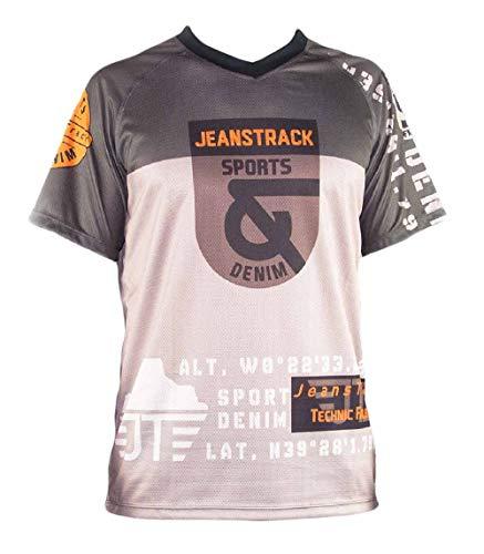 Jeanstrack Trick Camiseta técnica MTB, Beige y Marron, L
