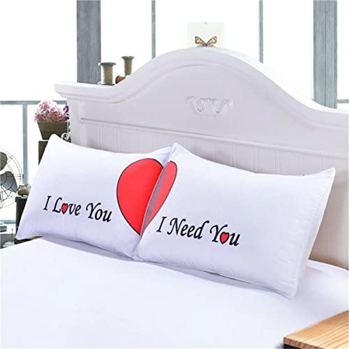 Warmht Love You Need You Couples Pillowcases Romantic Gifts for Him for Her for Valentines Day product image