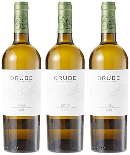 Orube Blanco Barrica - 3 Botellas de 750 ml - Total: 2250 ml