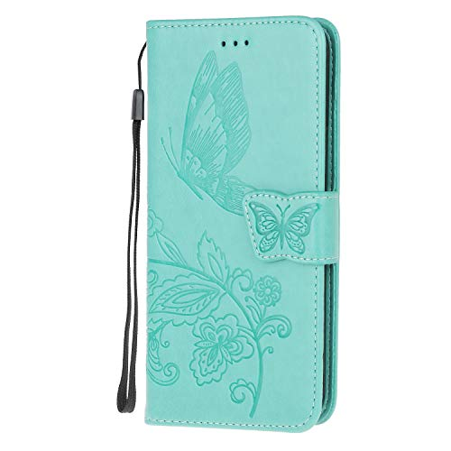 The Grafu Case Compatible with iPhone 6 / iPhone 6s, Multifunctional Magnetic Folio Flip Leather Case Cover with Card Slots and Wrist Strap for iPhone 6 / iPhone 6s, Green