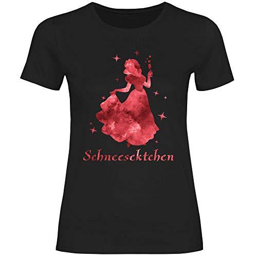 Royal Shirt Damen T-Shirt Schneesektchen, Größe:M, Farbe:Black
